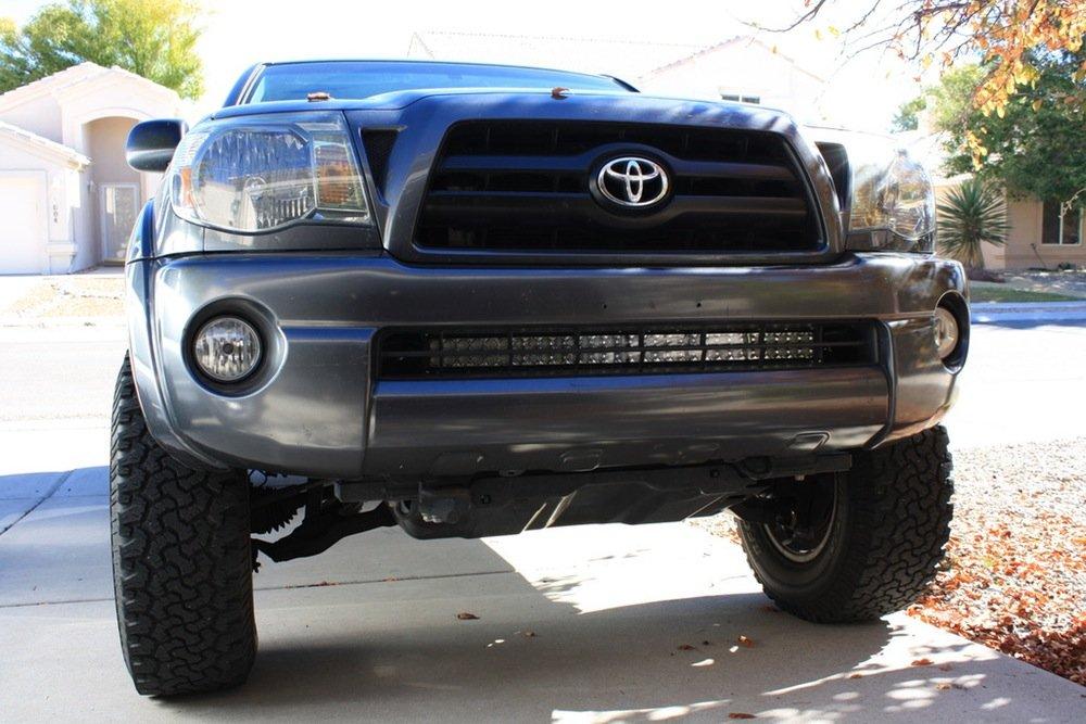 2005-2015 Toyota Tacoma 32 Hidden LED Light Bar Bumper Mounts Cali Raised LED