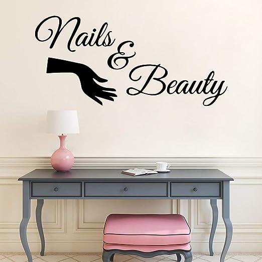 mlpnko Salón de uñas vinilos Decorativos manicura Adhesivos de ...