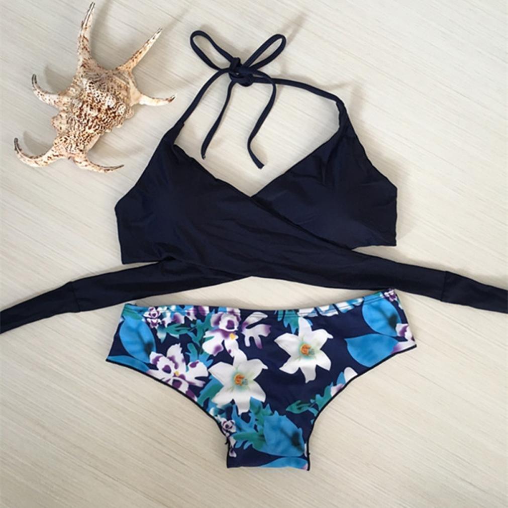 DEELIN Correa para Mujer Sling Sexy Bikini Set Traje De BañO Push-Ups Espesar Sujetador Traje De BañO Ropa De Playa: Amazon.es: Ropa y accesorios