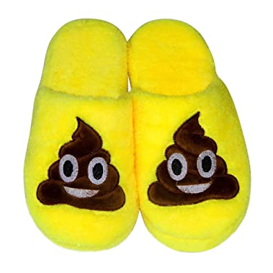 Amazon.com: LUOEM Funny Poop Slippers Non Slip Soft Plush Winter Indoor House Slippers for Adults Yellow: Shoes