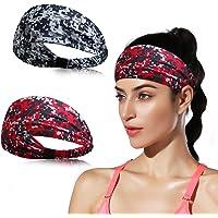 DINIGOFIN Wide Sports Headbands for Women Non Slip Fitness Headband-Moisture Wicking Sweatband Workout,Yoga,Running…