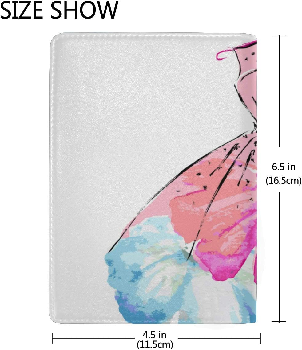 Pink Apron Of Lai Dance Troupe Blocking Print Passport Holder Cover Case Travel Luggage Passport Wallet Card Holder Made With Leather For Men Women Kids Family