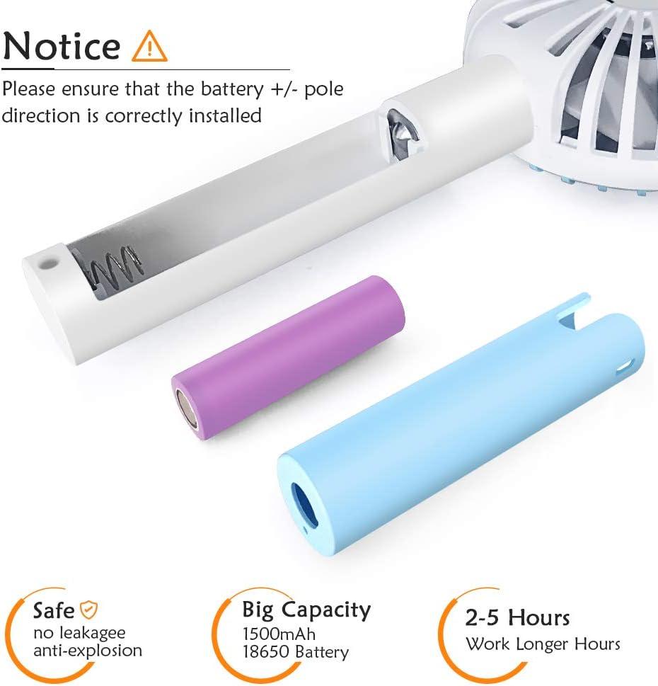 Lemebo Mini Ventilateur USB Portable Main Silencieux Multifonction Ventilateurs de table 3 vitesses r/églables Rechargeable Batterie pour L/ét/é Voyage Plein Air Bureaux Chambre