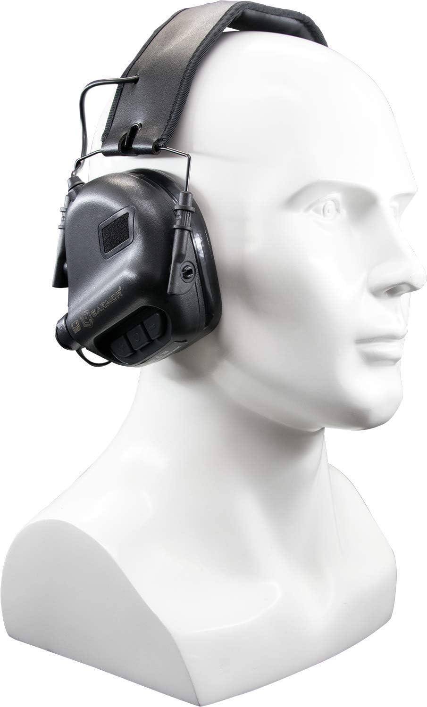 Auriculares de Diadema electr/ónicos con Entrada OTAN Color Negro Earmor M31