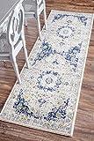 nuLOOM Vintage Persian Verona Runner Rug, 2' 8'' x 12', Blue