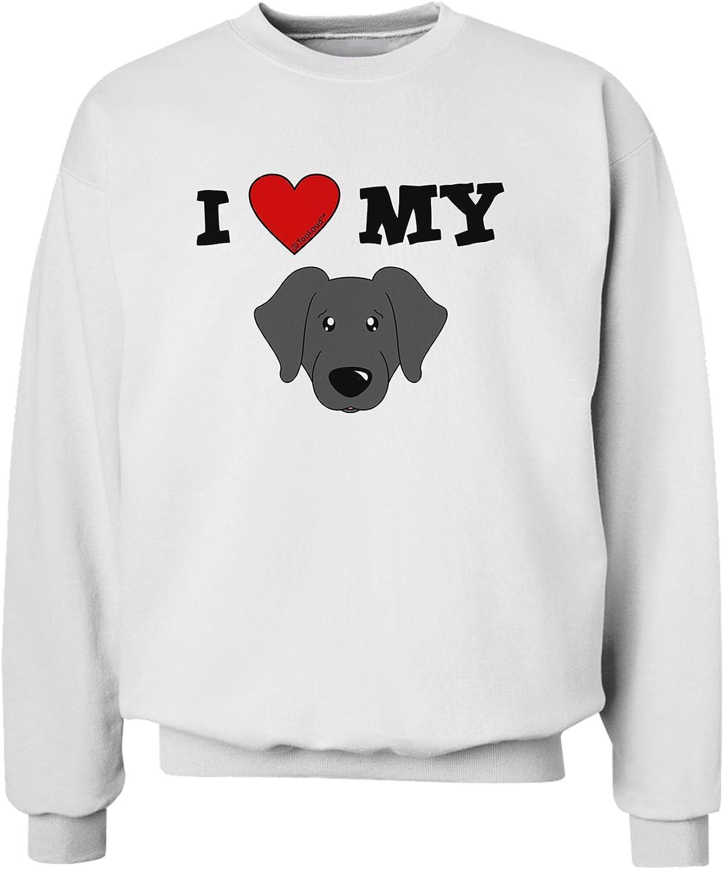 I Love Heart My Mastiff Sweatshirt