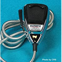 Astatic 636LC Chrome Noise Canceling 4-pin CB Radio Mic