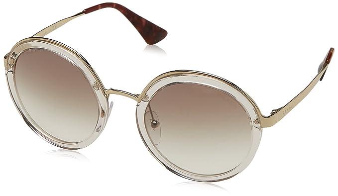 Prada Damen Sonnenbrille 0PR50TS UAO6O2, Weiß (White Havana/Violet), 54