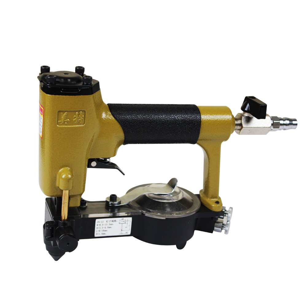 meite ZN-12 3/8-Inch Crown 1/4-Inch to 5/8-Inch Length Pneumatic Automatic Feeding Deco Nailer Push-pin Stapler Nailer for Upholstery and Woodworking by meite