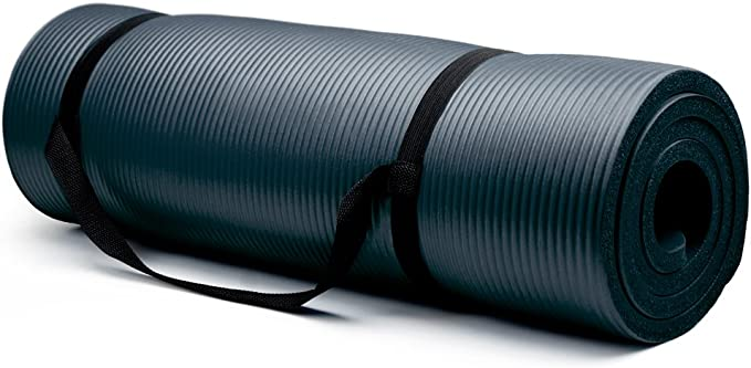 Crown Sporting Goods Thick Yoga Mat - best yoga mats for sweaty hands