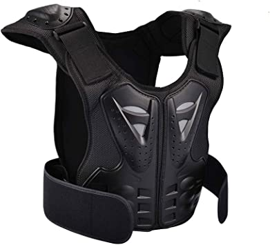 Scooter Skating WOSAWE Kids Body Armor Adjustable Motorcycle Chest Back Spine Protector Vest for 5-16 Years Old Children Dirt Bike Skiing