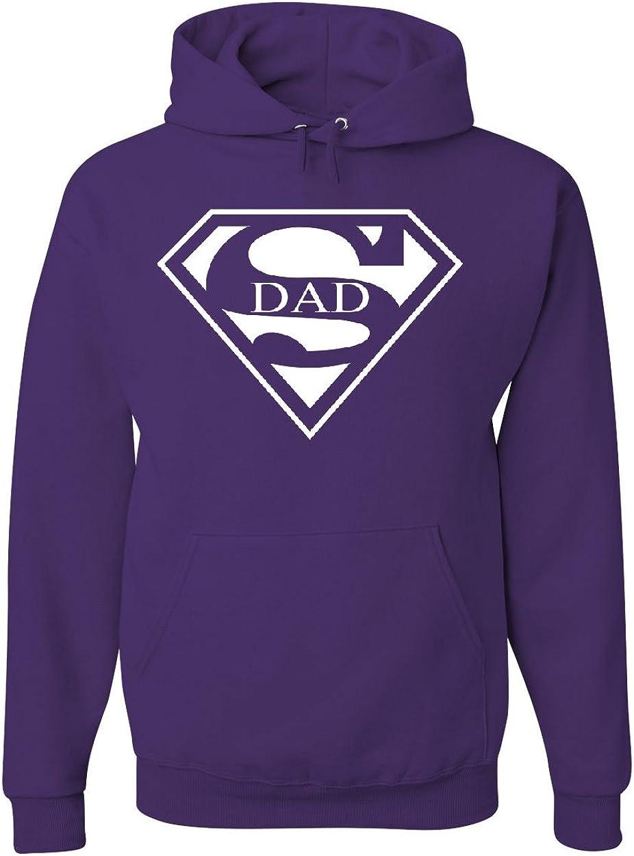 Tee Hunt Super Dad Hoodie Funny Superhero Fathers Day Sweatshirt