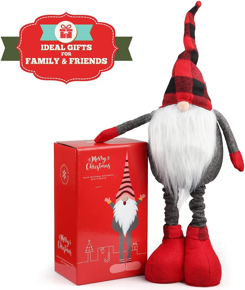 D Fantix Large Christmas Gnomes Plush 21 Inch Stand Swedish Tomte Gnome Figurines Santa Scandinavian Décor Gnome Christmas Ornaments Christmas Decoration Home Amazon Ca Toys Games
