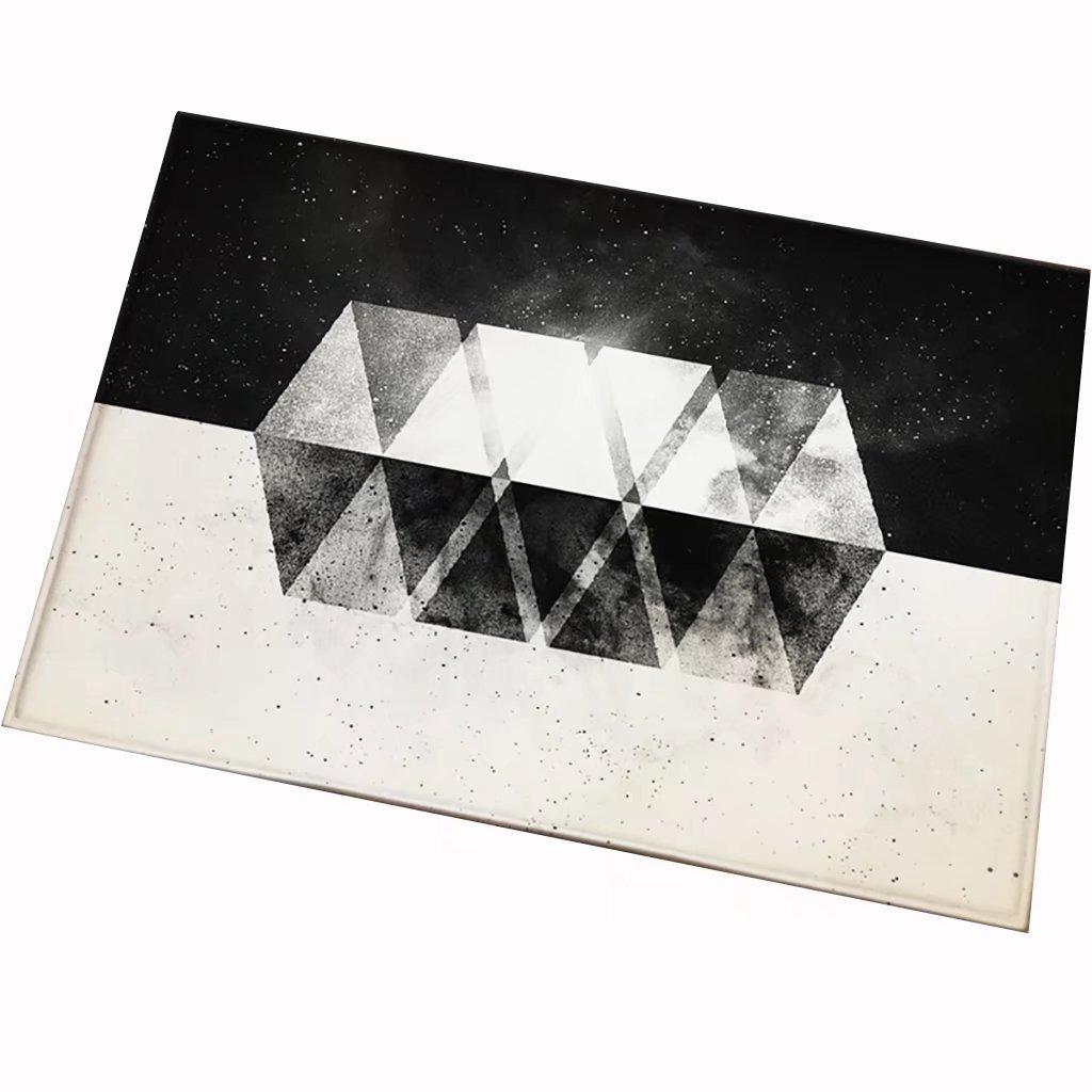 KTYJH Geometric Personality Creative Carpets Fashion Trends, Home Door Bedroom Kitchen Living Room, Bathroom Mat 4060cm