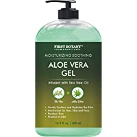 Aloe vera gel from 100 percent Pure Aloe Infused with Tea Tree Oil - Natural Raw...