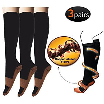 35cd1b77d0c 3 Pairs of Compression Socks for Men and Women Socks