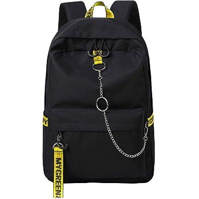 Mygreen Cool Girls School Backpacks For Middle School Student Backpack Bookbag Black&Yellow | Kids' Backpacks