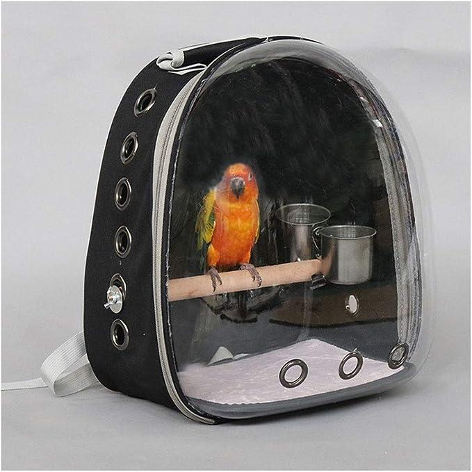 xiaokeai Jaula de Loros Compañías de Transporte de Aves Bolso de la Caja del Loro Fuera Mochila Myna la Jaula portátil de Viaje Jaula de pájaros al Aire Libre Villa Jaula de pájaros