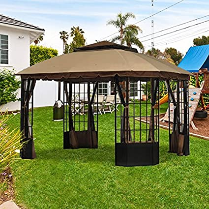 Amazon.com : Garden Winds OPEN BOX Sutton Pagoda Gazebo Replacement ...