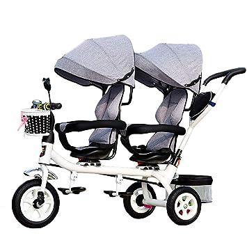 CHEERALL Niños 4 en 1 Trike Doble, Ligero, Triciclo de 3 ...
