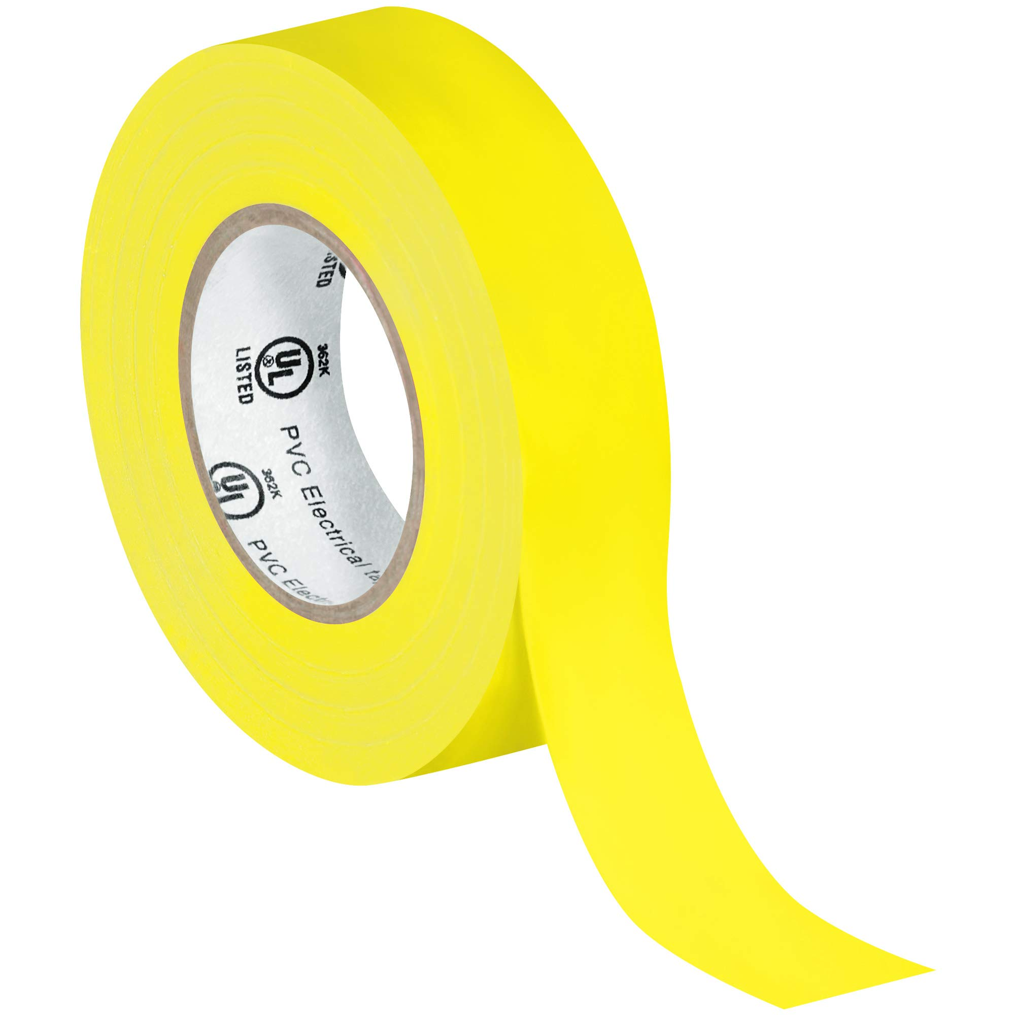 Electrical Tape, 7.0 Mil, 3/4''x 20 yds, Yellow, 200/Case