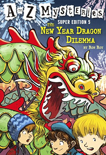 The New Year Dragon Dilemma (Turtleback School & Library Binding Edition) (A to Z Mysteries Super Edition) by Turtleback Books (Image #2)