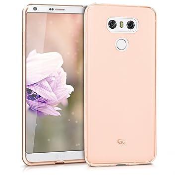 kwmobile Funda para LG G6 - Carcasa Protectora de [TPU] para móvil - Cover [Trasero] en [Oro Rosa]