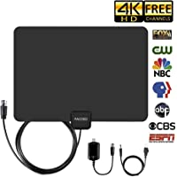 Pacoso Best Indoor Amplified Digital TV Antenna with 13.2ft Long Coaxial Cable