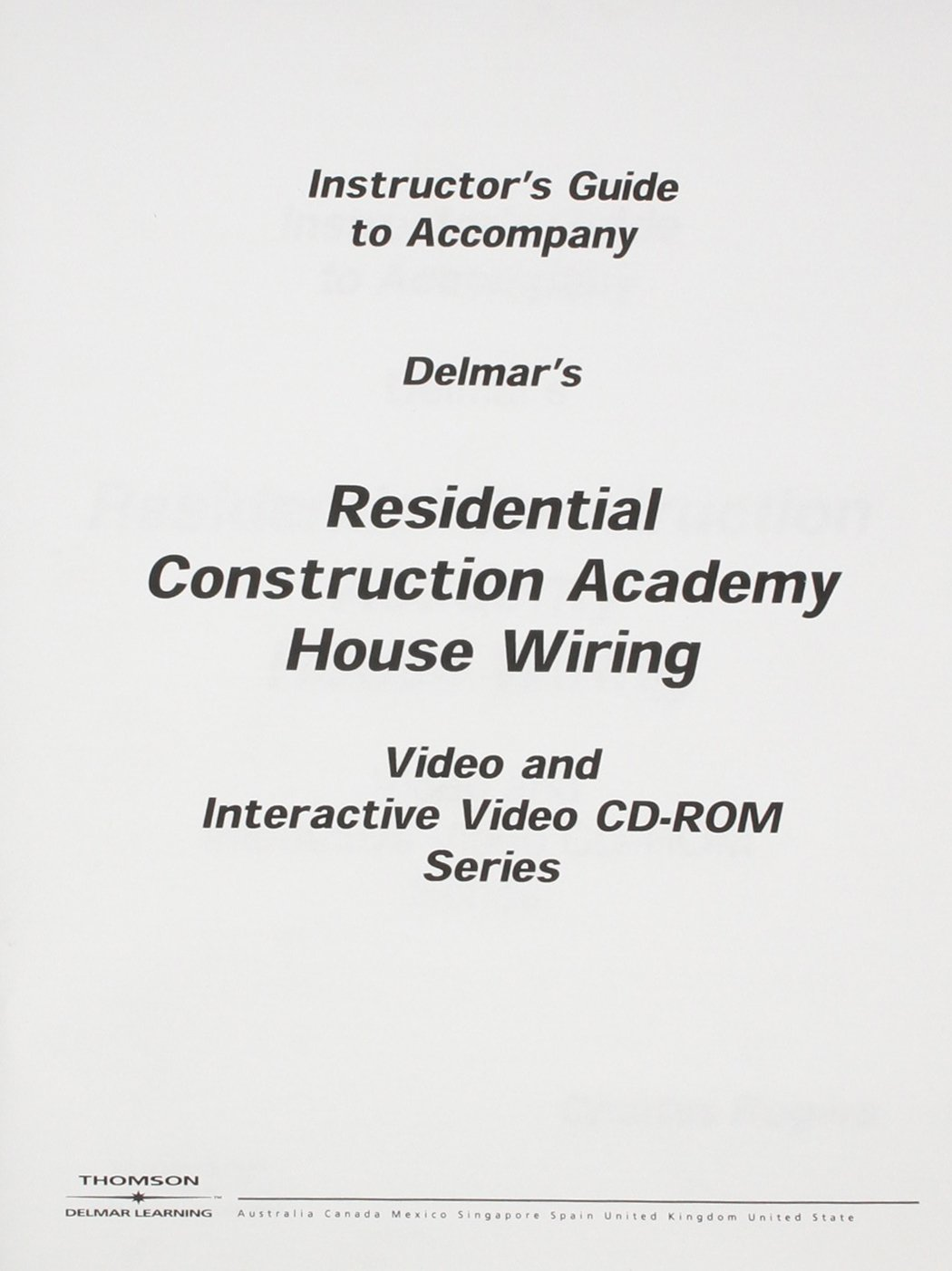 Amazon.com: Residential Construction Academy House Wiring Video Set 2  [VHS]: Gregory W Fletcher: Movies & TV