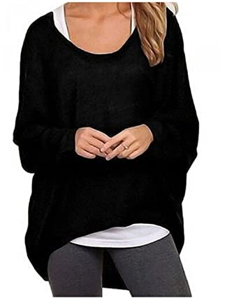 Women's Sexy Casual Autumn Oversized Baggy Off-Shoulder Long ...