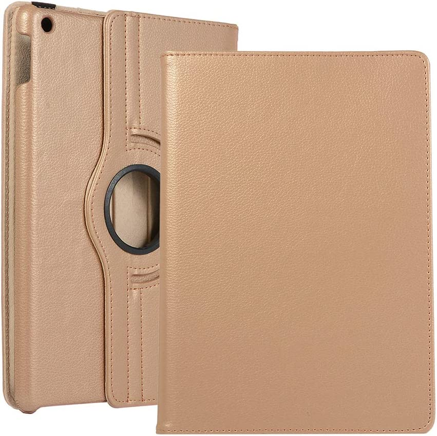 Billionn Case for New iPad 10.2 Inch 2019 (7th Generation), Auto Sleep/Wake Smart Cover with Free Cleaning Cloth and Screen Protector, Gold
