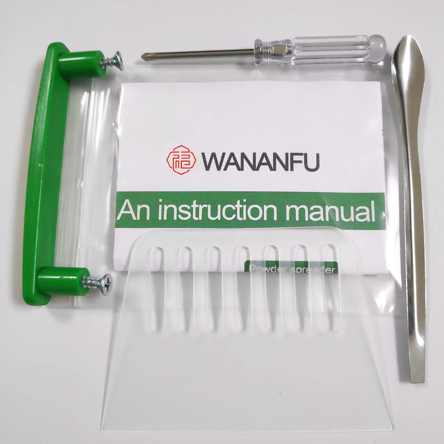 100 Hole (000#) Capsule Holder with Tamper for Size 000 Empty Capsules Holding Tray Pill Dispensers & Reminders -Green by wananfu (Image #7)