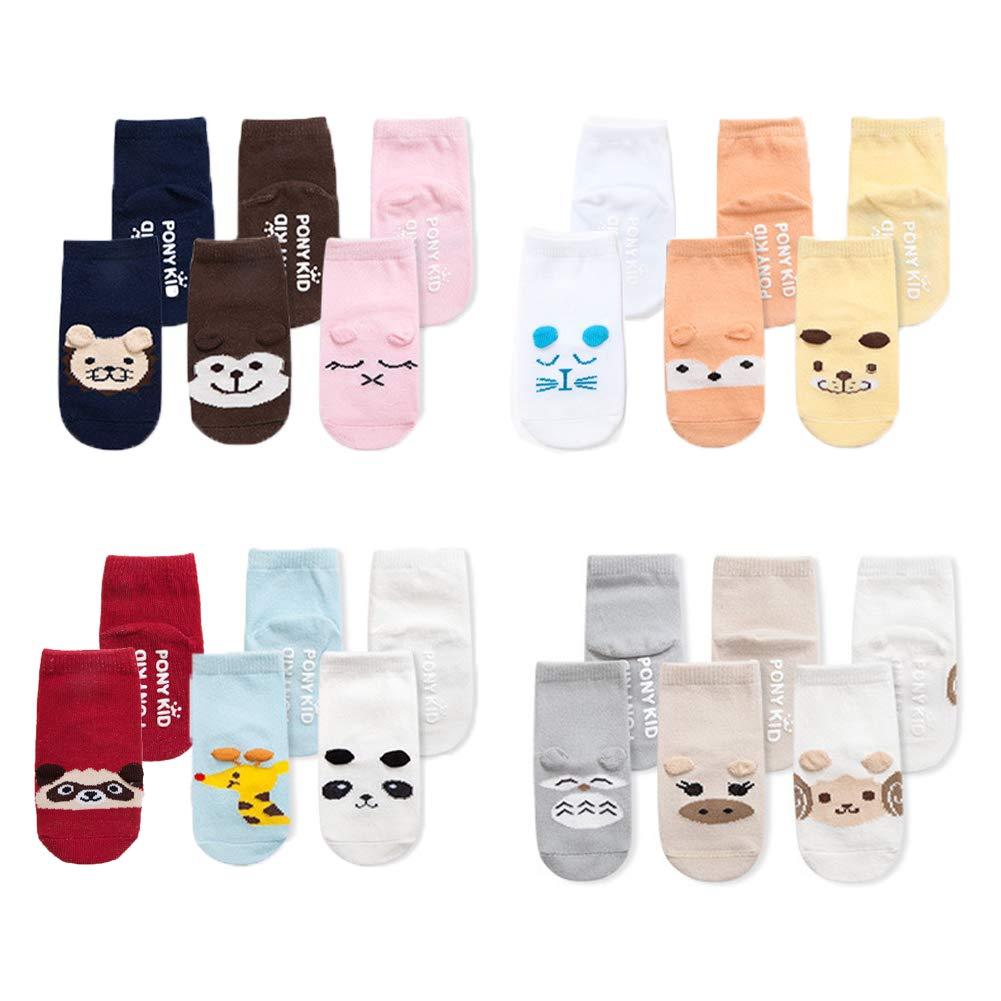 Z-Chen Calcetines Antideslizantes para bebés (Pack de 12 pares), 0-1 años EU0157/S