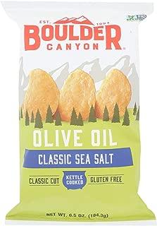 product image for Boulder Canyon Natural Foods Kettle Chips - Olive Oil - Case of 12 - 6.5 oz.