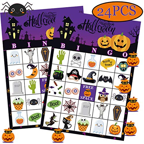 Classroom Halloween Party Invitation (Funnlot Halloween Bingo Game Halloween Party Games for Kids 24 Players Halloween Bingo Game Cards for School Classroom Family Activities Halloween Party)
