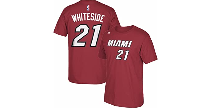 Hassan Whiteside Miami Heat  21 Red Home Youth Player Name and Number T  Shirt ( 9eef6820e