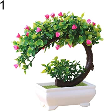 1× Artificial Fake Flower Potted Plant Bonsai Party Outdoor Garden Home Decor