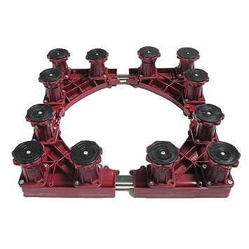 Base cuadrada ajustable de color rojo, resistente, multiusos ...