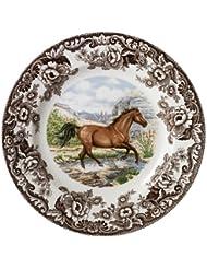 Spode Woodland American Quarter Horse Dinner Plate