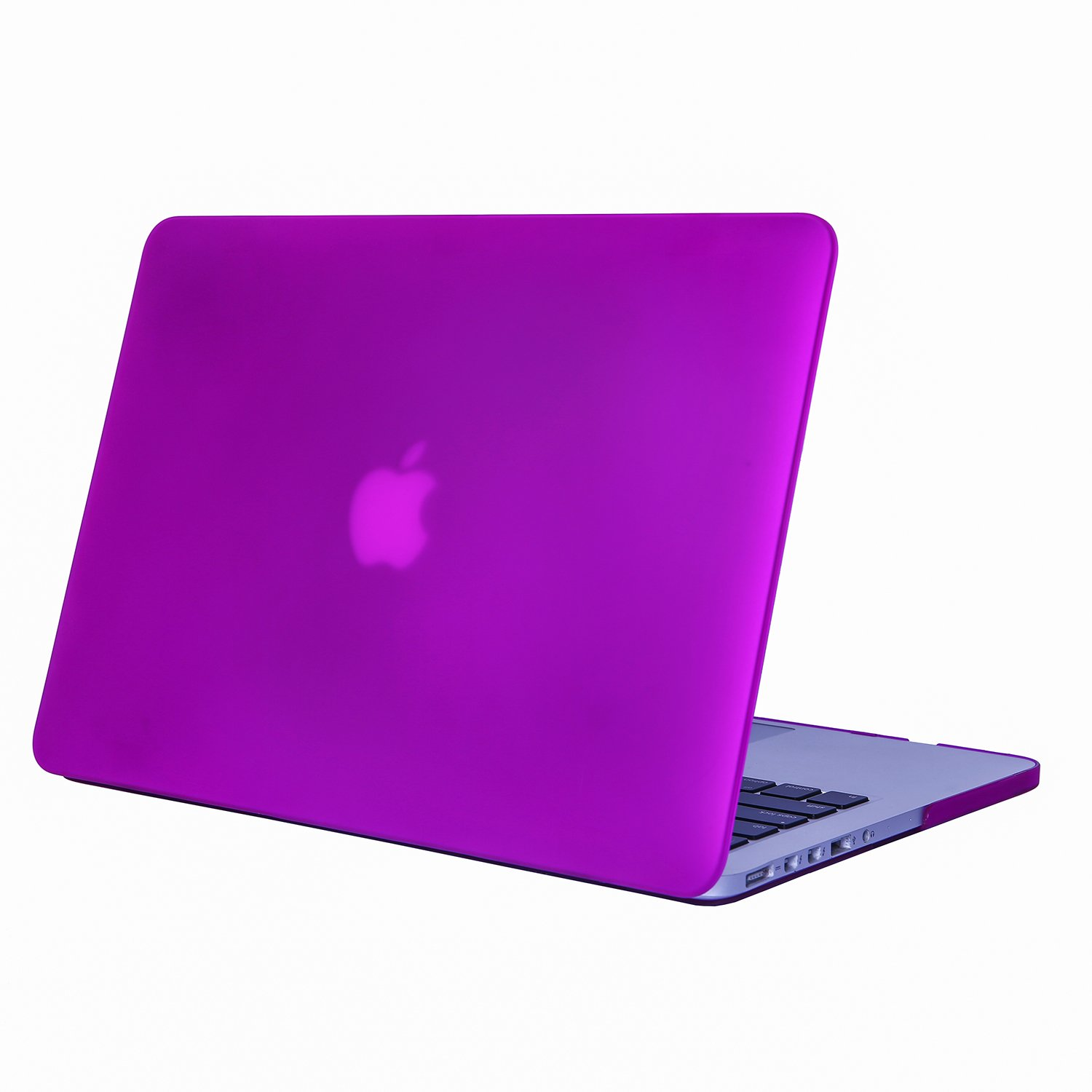 Deep Purple Se7enline Macbook Pro A1398 Case Matte Plastic Hard Shell Cover for MacBook Pro 15 inch with Retina display 2012-2015 Release with Keyboard Cover Skin