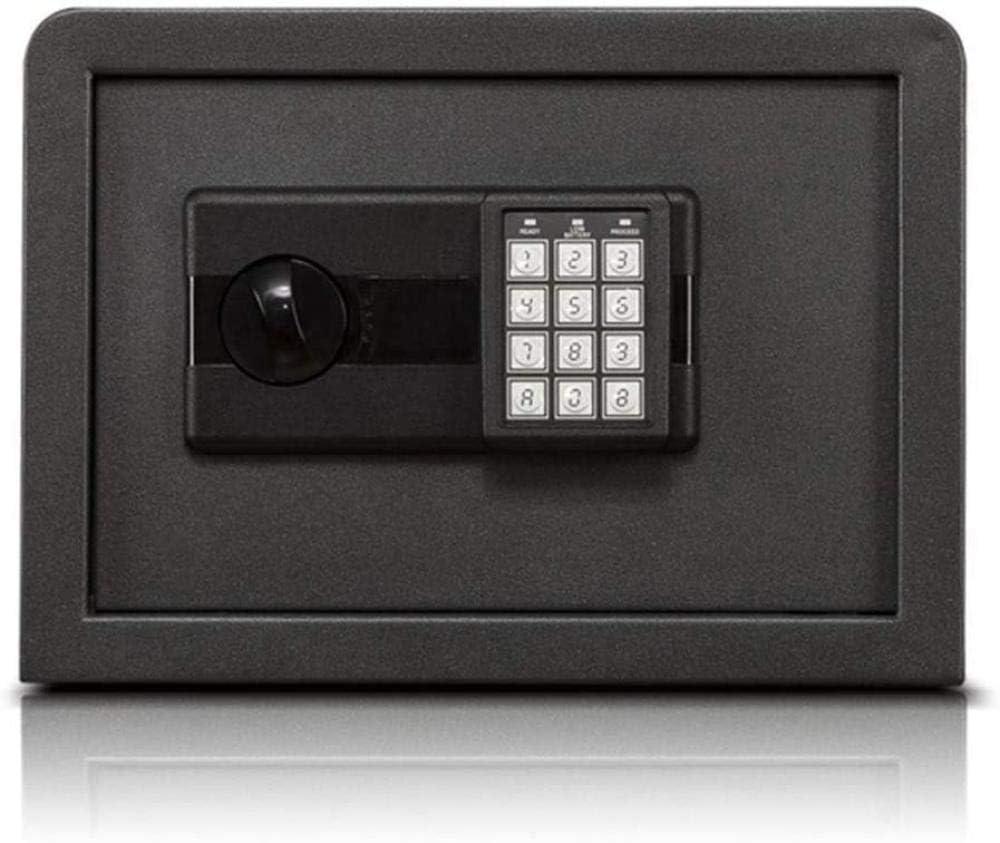 Elise Caja Fuerte Fuerte pequeña Caja Fuerte for la Seguridad casera Key Lock Pequeño Gabinete de Almacenamiento Negro SafeBox (Tamaño: 35 * 25 * 30) Yjiangluochen ...