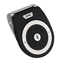 AMAKE Wireless Bluetooth 4.1 Car Speaker Player Receiver Sun Visor Car Charger Speakerphone Car Stereo Hands-free Bluetooth Speakerphone Adapter Car Kit with Mic for iPhone 7/Plus Samsung Support Siri