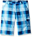Columbia Boys Silver Ridge Printed Shorts, Super Blue Plaid, X-Large