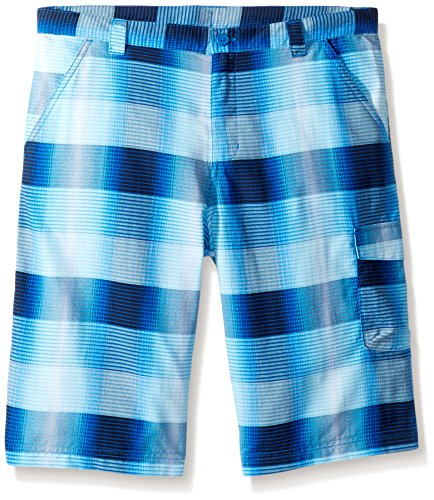 Columbia Boys Silver Ridge Printed Shorts, Super Blue Plaid, X-Large by Columbia