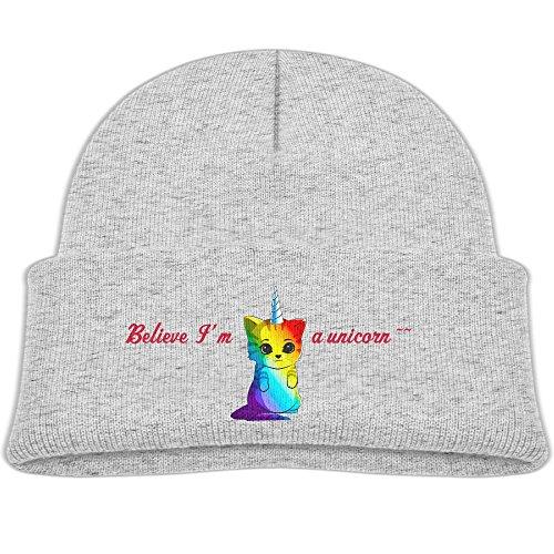 H-FUN Baby Kids Warm Knit Hats Rainbow Unicorn Cat Patern Cute Thick Hood Caps, (Cat In The Hat Custome)
