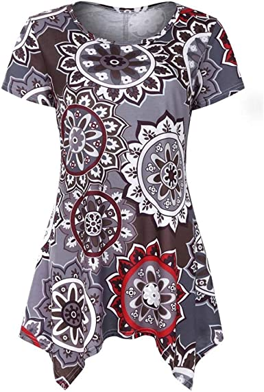 Mujer Camisas Verano Floreadas Elegante Camiseta Ocasional ...