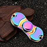 Fidget Spinner Hand Spinner Focus Finge Tip Spinner Fidget Toy METAL ULTRA FAST BEARING Perfect for ADD ADHD Anxiety Autism And Stress Relief Guarantee 1min+Spin Time BEST GIFT (Rainbow#3)