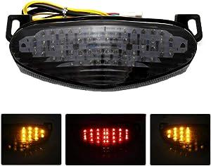 MZS Tail Light Turn Signal LED Integrated Blinker for Kawasaki Ninja 650R ER-6n ER-6f 2009-2011/ Versys 1000 KLZ1000 2012-2018/ Ninja 400R 2011-2013/ ER-4N 2011-2013 Smoke