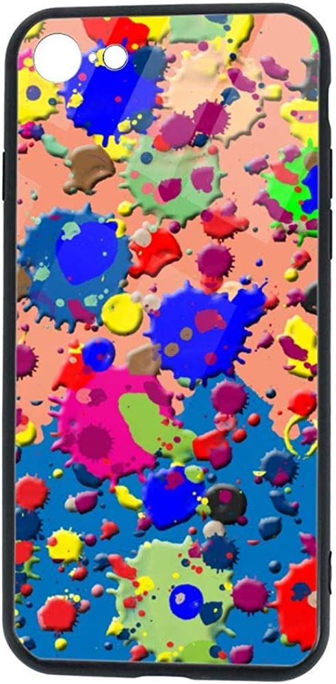 Compatible conColorful Bright Ink Splat Case foriPhone 8 and iPhone 7Shock-Absorption Bumper CoverAnti-Scratch Back