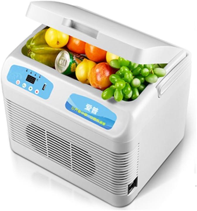 NPZ * 12L Refrigerador del Coche Caja frigorífica portátil Mini Refrigerador Camión Incubadora Pequeño Hogar Frigorífico Refrigeración Refrigerador pequeño (Size : 12V/24V/220V)